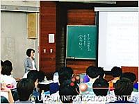 講義中の大田原先生