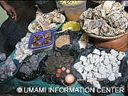 市場でのナイジェリア食材
