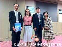 登壇者および関係者左から笹野教授,サン・ガブリエル博士,庄野教授,佐藤教授