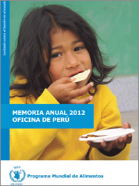 The front page of WFP 2012 annual report